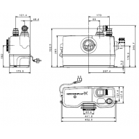 Насос для водовідведення Grundfos SOLOLIFT2 WC-1 (97775314)