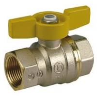 """Повнопрохідний кульовий клапан з жовтою T-ручкою, хром, внутрішня різьба 1"""" Giacomini арт. R851X005"""