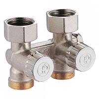 """Прохідний клапан для нижнього підключення радіаторів до одно і двотрубних систем, 3/4""""F X 3/4""""E Giacomini арт. R383X002"""