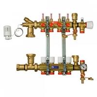 Збірний колектор для систем підлогового опалення з витратомірами на 4 контури Giacomini арт. R557FY004