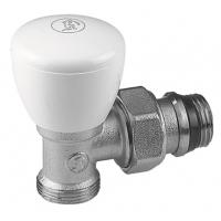 """Кутовий ручний клапан, хромований, з під'єднаннями 1/2"""" X 18 Giacomini арт. R25X034"""