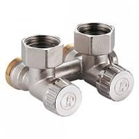 """Кутовий клапан для нижнього підключення радіаторів до двотрубних систем, 3/4""""F X 18 Giacomini арт. R384X001"""
