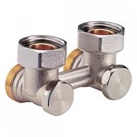 """Кутовий клапан для нижнього підключення радіаторів до двотрубних систем, 3/4""""F X 3/4""""E Giacomini арт. R388X002"""
